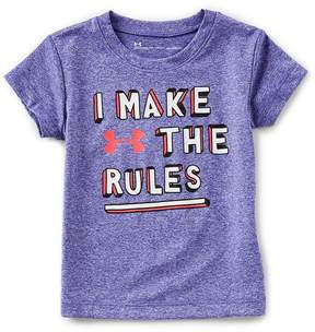 Under Armour Little Girls 2T-6X Short-Sleeve I Make The Rules Tee