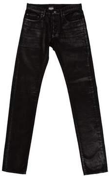 Christian Dior 2008 Waxed Corduroy Skinny Jeans