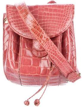 Judith Leiber Alligator Drawstring Bag