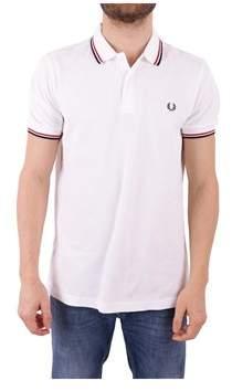 Fred Perry Men's White Cotton Polo Shirt.