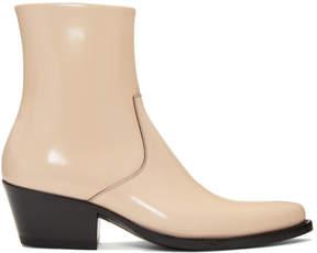 Calvin Klein Pink Tex Boots