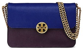 Tory Burch Chelsea Calf Hair Convertible Shoulder Bag - BLACKCURRANT/BOXWOOD/CAPRI BLUE - STYLE