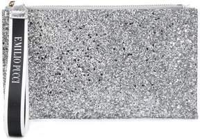 Emilio Pucci glittery wristlet pouch