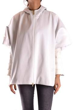 Geospirit Women's White Polyester Outerwear Jacket.