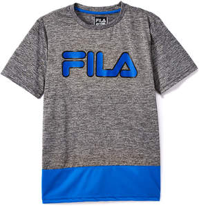 Fila Prince Blue 'Fila' Logo Color-Block Tee - Boys