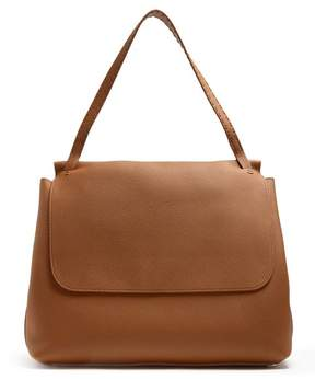 The Row Sidekick Grained Leather Shoulder Bag - Womens - Brown