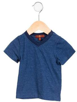 7 For All Mankind Boys' Casual V-Neck T-Shirt