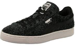 Puma Women's Suede Elemental Black White Ankle-High Suede Fashion Sneaker - 7M