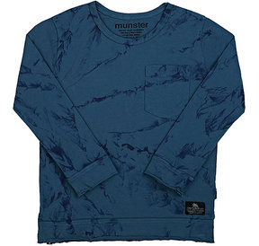 Munster Brushstroke-Print Cotton Long-Sleeve T-Shirt
