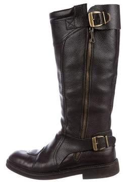 Dries Van Noten Leather Tall Boots