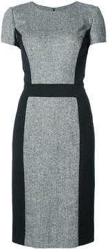 Carolina Herrera fitted colour-block midi dress