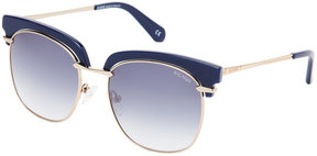 Balmain BL2502 Navy & Gold-Tone Square Sunglasses