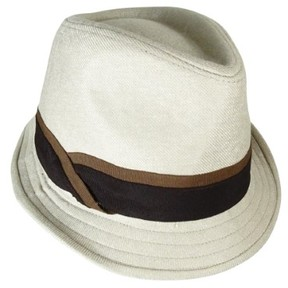Nine West Women's Two-Tone Band Twill Fedora (OS, Ash)