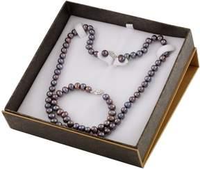 Bella Pearl Black Freshwater Pearl Boxed Jewelry Set