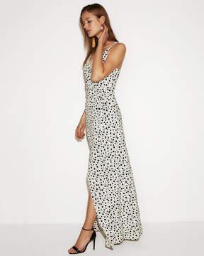 Express Polka Dot Strappy Wrap Maxi Dress