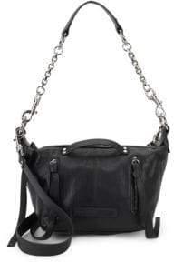 McQ Textured Leather Shoulder Bag