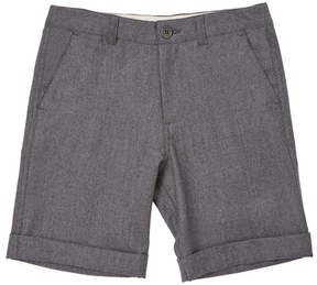 Marie Chantal Boys Flannel Formal Shorts - Grey