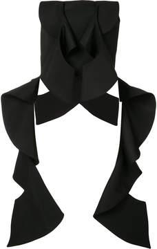 Christian Siriano strapless origami top
