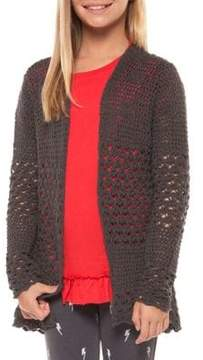 Dex Girl's Knitted Open Front Cardigan