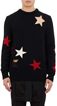 Givenchy Men's Star Cutout Wool Sweater