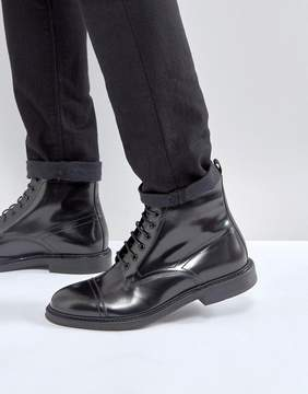 Zign Shoes Smart Leather Lace Up Boots