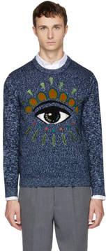 Kenzo Navy Intarsia Eye Sweater