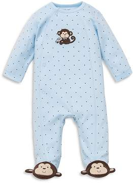Little Me Boys' Monkey Star Footie - Baby