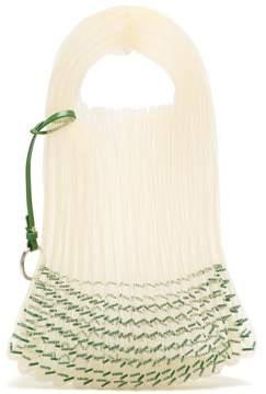Jil Sander Bead Embellished Woven Tote - Womens - Green