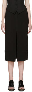 Chloé Black Cady Slit Skirt
