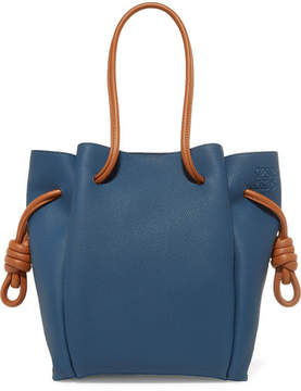 Loewe Flamenco Small Textured-leather Tote - Blue
