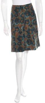 Cacharel Abstract Print A-Line Skirt