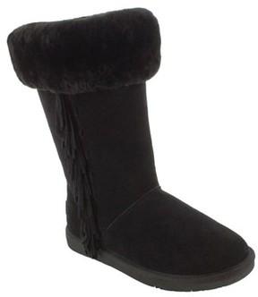 Minnetonka Women's Canyon Genuine Shearling Trim Boot