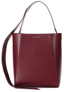 Calvin Klein Stripe Link leather bucket bag