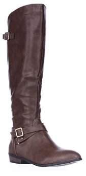Material Girl Mg35 Capri Wide Calf Riding Boots, Cognac.
