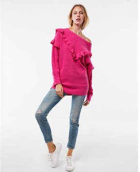 Express oversized ruffle sweater