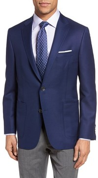 Hickey Freeman Men's Classic B Fit Global Guardian Wool Blazer