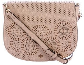 Tory Burch Zoey Leather Saddle Bag - PINK - STYLE