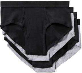 Joe Fresh Men's 4 Pack Briefs, Black (Size XL)