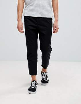 Pull&Bear Relaxed Chino In Black