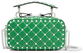Valentino Garavani The Rockstud Spike Quilted Leather Shoulder Bag - Green