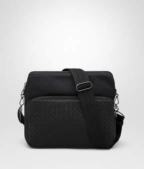 Bottega Veneta Nero Technical Canvas Messenger Bag