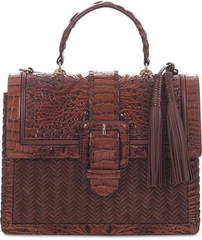 Brahmin Francine Ross Embossed Leather Satchel