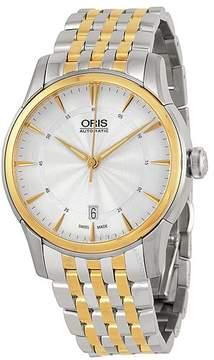 Oris Artelier Date Silver Dial Two-Tone Stainless Steel Men's Watch