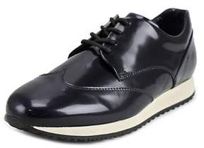 Hogan H221 B-dress Derby Liscio Youth Leather Black Fashion Sneakers.