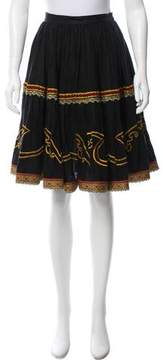 DKNY Embroidered Linen Skirt