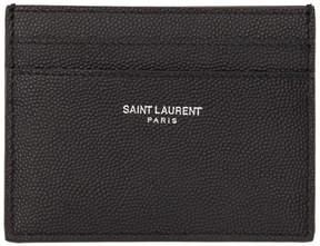 Saint Laurent Black Leather Card Holder
