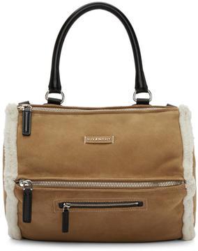Givenchy Beige Medium Shearling Pandora Bag