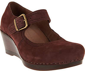 Dansko Suede Wedge Mary Janes - Sandra