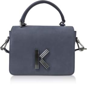 Kenzo Anthracite Medium Nabuk and Leather Crossbody K-Bag