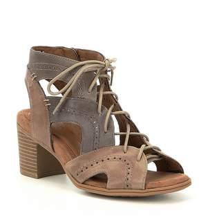 Rockport Hattie Braided Block Heel Sandals